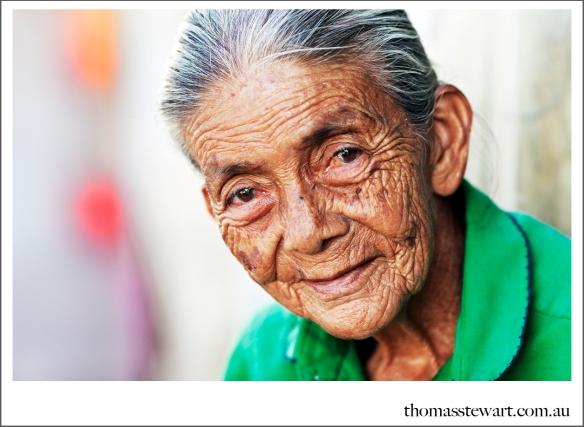 portrait of old woman in granada, nicaragua